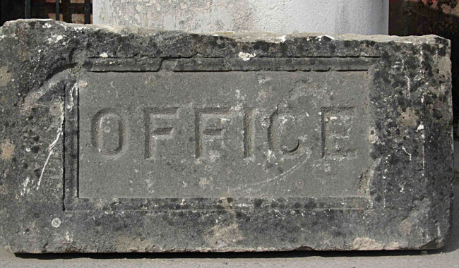 649-Antique-carved-limestone-office-sign