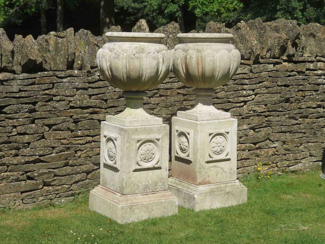 stone garden urns